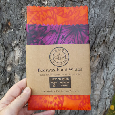 Sale-Stirling - Beeswax Wraps Butterfly Lunch Pack