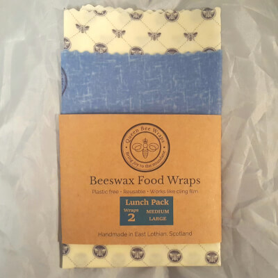 Stirling - Beeswax Food Wrap Lunch Pack White Bee