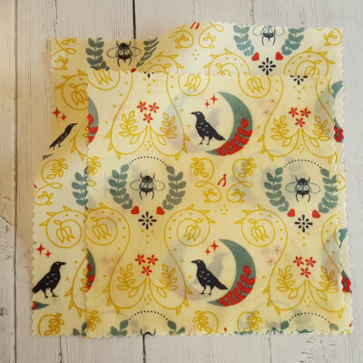 Beeswax Food Wraps - Organic Lunch Pack Of 2 - Bumble Bee