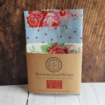 Winter Sale: Beeswax Food Wraps Rose Variety Pack