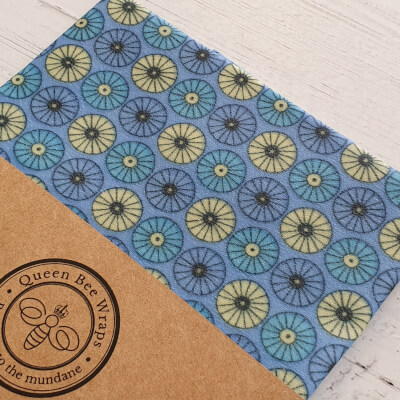 Beeswax Food Wrap - Single Large, Scandi Blue