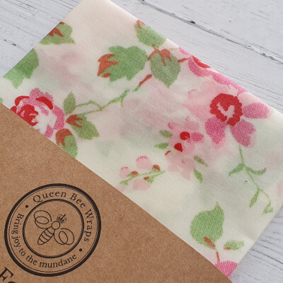 Beeswax Food Wrap - Single Large, Rose Cream