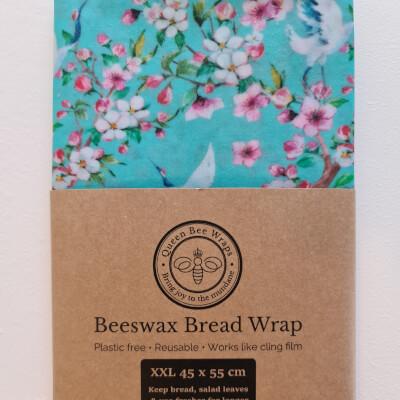 Stirling: Beeswax Bread/Veg Wrap - Blue Oriental Cranes