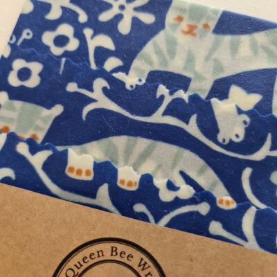 Stirling: Beeswax Wraps Organic Variety Pack - African Blue (S, M, L)