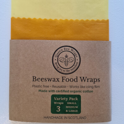 Sale - Stirling:  Organic Beeswax Wrap Variety Pack (3) Plain & Simple Sale