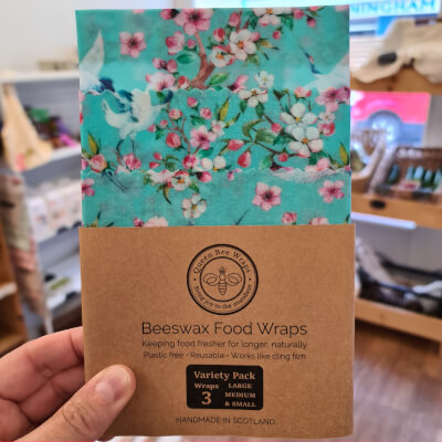 (Blairgowrie) Beeswax Food Wraps - Oriental Cranes, Variety Pack (S, M, L)