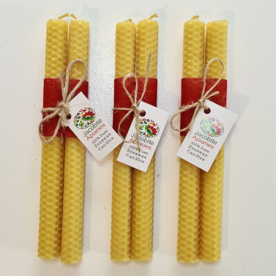 Sale (Blairgowrie) Hand Rolled Pure Beeswax Candles, 2 X 20 Cm