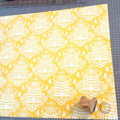 Beeswax Bread Wrap XXL 45 X 55 Cm Hive Yellow
