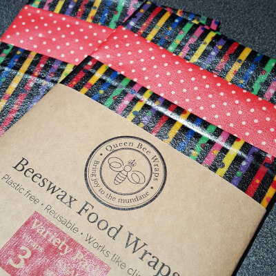 Sale-Beeswax Wraps - Variety Pack - Stripy Design