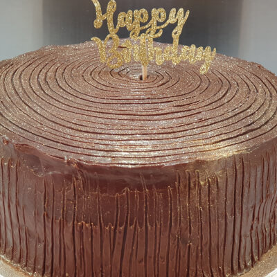 Double Chocolate Fudge Celebration Cake