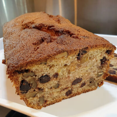 Banana, Walnut And Chocolate Loaf (Gluten Free)