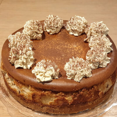 Baked Cappuccino Cheesecake