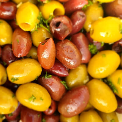 Mix Olives With Parsley, Garlic