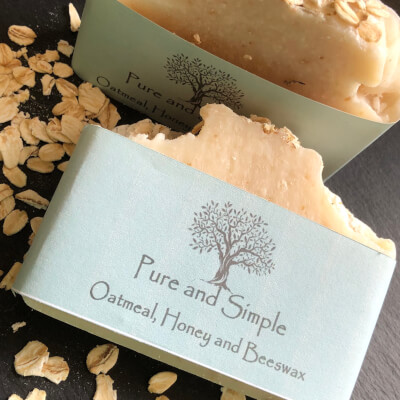 Oatmeal, Honey And Beeswax Soap