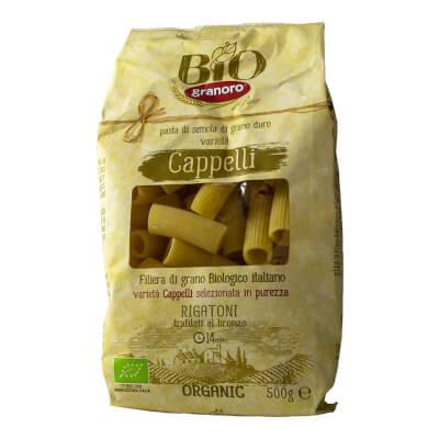 Organic Italian Rigatoni Pasta Cappelli 500Gr Granoro