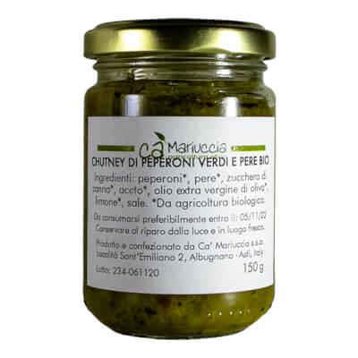 Organic Green Pepper & Pear Chutney