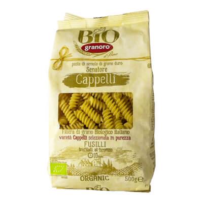 Organic Italian Fusilli Pasta Senatore Cappelli From Granoro, 500 Gr.