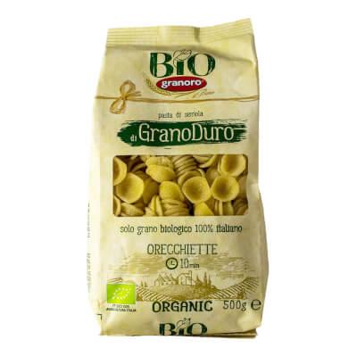 Organic Italian Orecchiette Pasta From Granoro, 500 Gr Apulia.