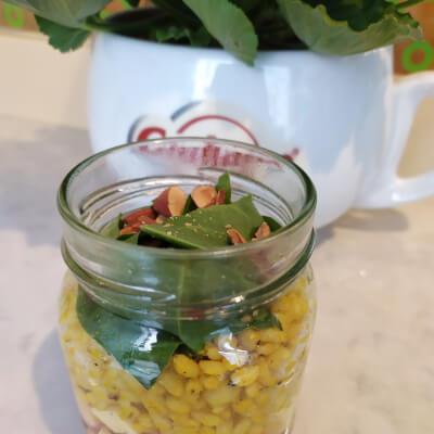 Organic Healthy Salad In A Jar