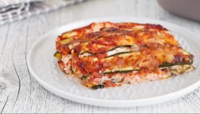 Homemade Courgette Parmigiana