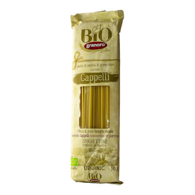 Organic Italian Spaghetti Pasta Cappelli 500 Gr