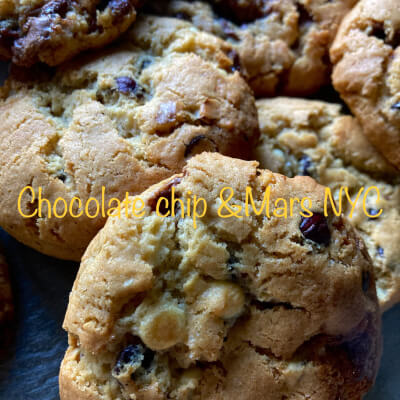 Large New York Style Chocolate  Chip  & Mars Cookies X 6 Pieces
