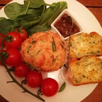 Spinach, Scallion, Herb & Feta Savoury Muffins