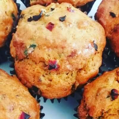 Dairy Free Spinach, Olive, Pepper, Savoury Muffins X 6