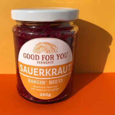 Bangin' Beets Sauerkraut