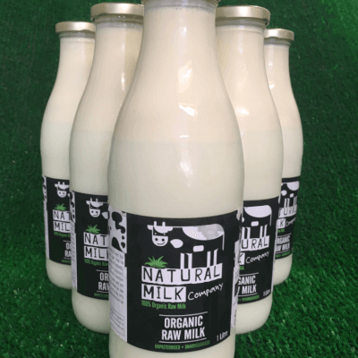 Organic Raw Milk In 1 Litre Glass Bottle - An Tulach