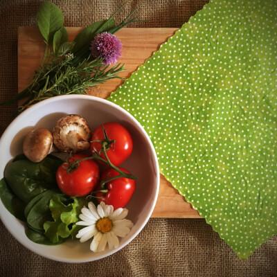 12 Inch All-Purpose Wrap - Lime Green Polkadot