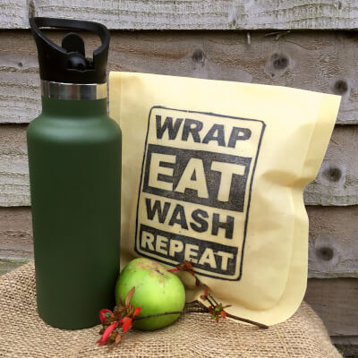 Waxed Lunch Pouch - Wrap Eat Wash Repeat