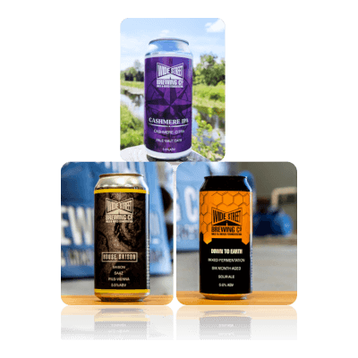 Wide Street Brewing Selection (3 Beers)