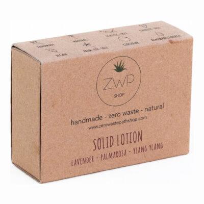 Zwp Solid Lotion Lavender, Palmarosa And Ylang Ylang