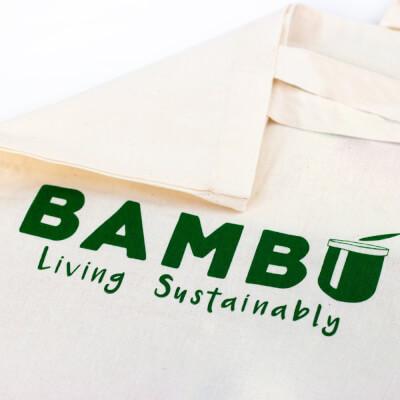 Tan Bambú Canvas Tote Bag
