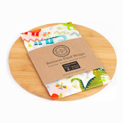 Queens Bee Wraps Beeswax Food Wraps - Lunch 2-Pack