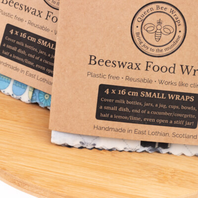 Queens Bee Wraps Beeswax Food Wraps - Mini 4-Pack