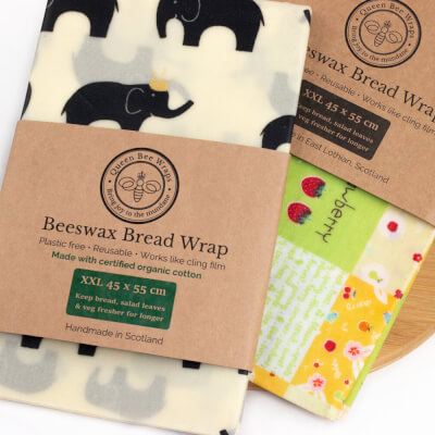 Queens Bee Wraps Beeswax Food Wraps - Bread Wraps Organic