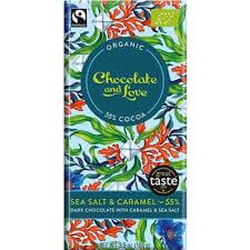 Chocolate & Love Sea Salt & Caramel Chocolate Bar