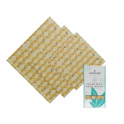Eco Lifestyles 3-Pack Vegan Wax Food Wraps - Bee Print