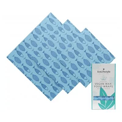 Eco Lifestyles 3-Pack Vegan Wax Food Wraps - Fish Print