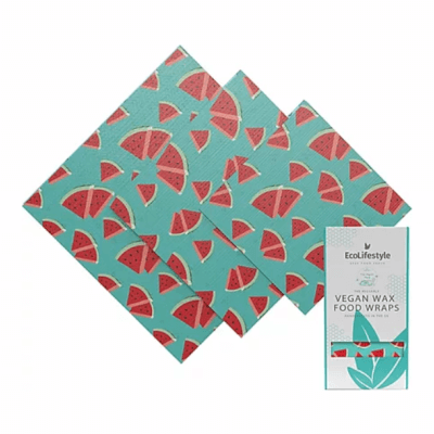 Eco Lifestyles 3-Pack Vegan Wax Food Wraps - Watermelon Print