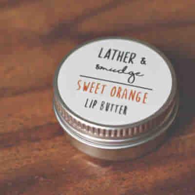 Lather & Smudge Sweet Orange Lip Balm
