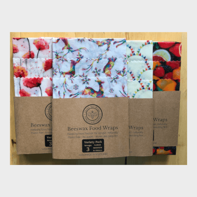 Queen Bee Wraps Beeswax Food Wraps - Variety 3-Pack