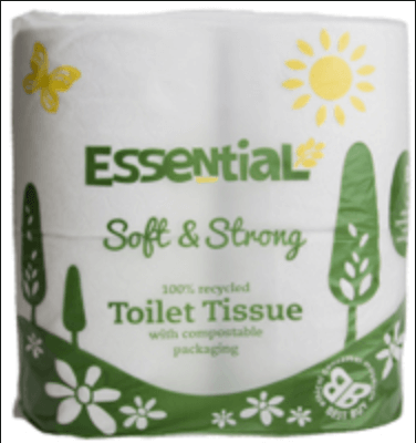 Toilet Roll 4-Pack (Plastic-Free)