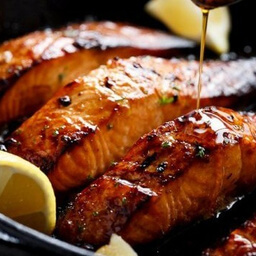 SALMON HONEY GLAZED KILN ROAST