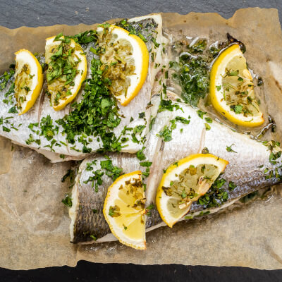 Oven Ready Seabream (Whole) - Lemon & Parsley