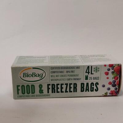 Biobag Food And Freezer Bags 4Ltrs