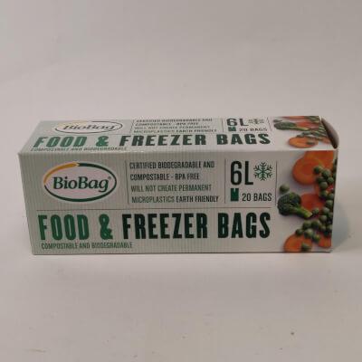 Biobag Food And Freezer Bag 6Ltr