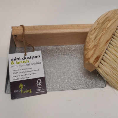 Ecoliving Mini Dustpan And Brush With Magnets